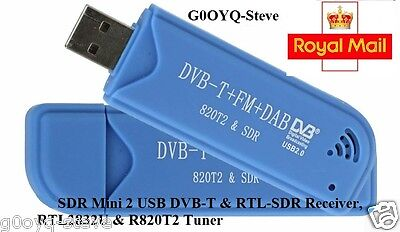 NEW SDR RTL2832U & R820T2 USB DVB-T and RTL-SDR Receiver 2nd Generation USB