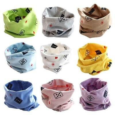 Toddler Baby Kids Boys Girls O-ring Scarf Collar Neckerchief Playing cards Shawl