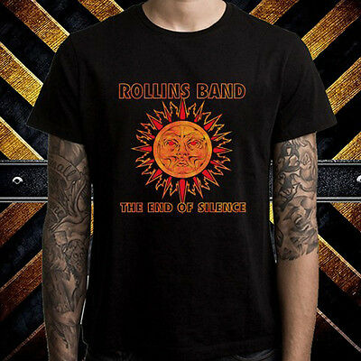 Rollins Band The End Of Silence Metal Band Men's Black T-Shirt Size S to 3XL
