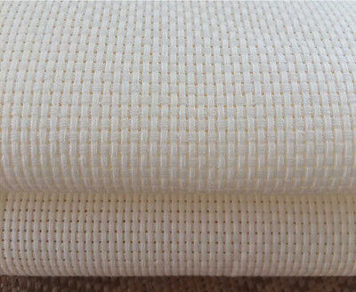 White 14 Count Aida Fabric 100% Cotton Cross Stitch  Various Sizes