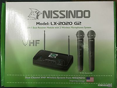 Dual Channel VHF Wireless microphone Nissindo