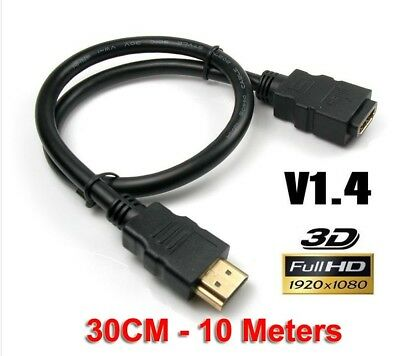 HDMI Extension Cable Male to Female Lead v1.4 3D 4K High Speed Extender AU Stock