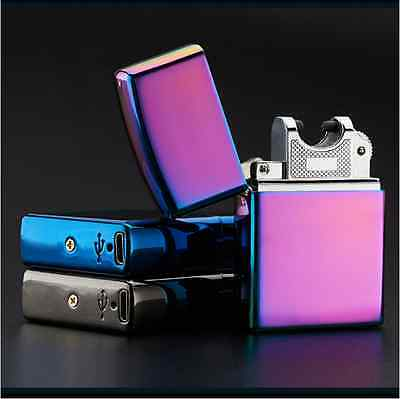 New Electronic USB Rechargeable Cigarette Lighter Windproof Pulse Cigar Lighter