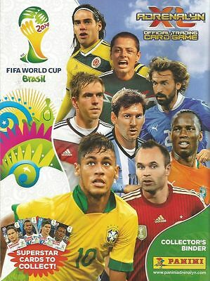 Panini World Cup 2014 Adrenalyn Xl Complete 416 Card Set In Binder (Album)