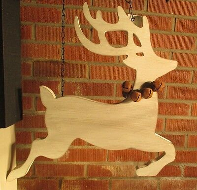 """CUTOUT REINDEER"" Replacement Sign - Wood Sign for Country Arrow Holders"