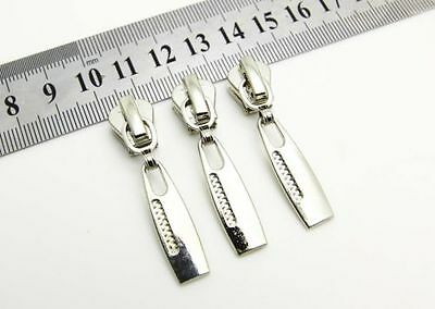 1 pcs sliver Puller #5 alloy Zipper Puller For Repair Replace clothing Z-132