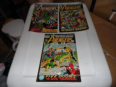 Avengers Comics Lot of 3 books #101 #105 and #118 Complete Unrestored!