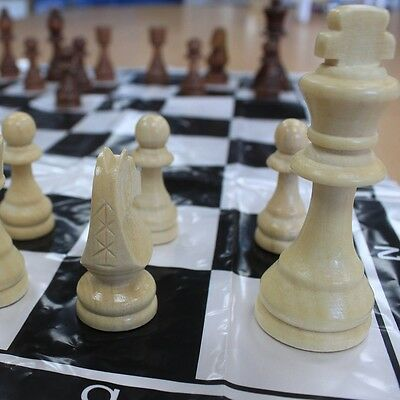 "Just Chess Pieces Large Wood Wooden Quality Chess Set - 9cm King (3.6"") - SALE !"