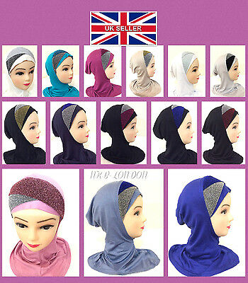 Muslim Kids Girls Ladies Readymade Hijab Headscarf Ninja Hijab Criss Cross Hijab