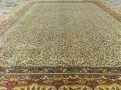 Exquisite Large  Antique 8x11ft Natural Dyes Lambs Wool Colors Hereke Rug Turkey