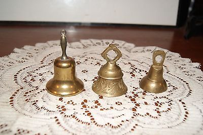 Vintage...lot Of 3...estate...small...1 Souvenir, Steamtown U.s.a....brass Bell
