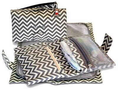 MELOBABY NAPPY WALLET & CHANGING MAT Foldaway Baby Change CHEVRON