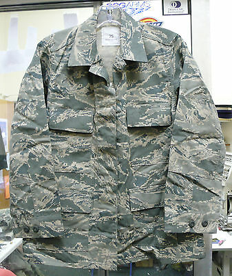 Usaf Air Force Woman's Abu Coat Shirt 50/50 Nyco Twill Var Sizes New