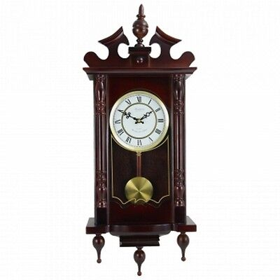 "Bedford Clock Collection Classic 31"" Chiming Wall Clock With Roman Numerals And"