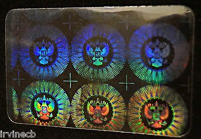 Hologram Overlays Presidential Inkjet Teslin ID Cards - Lot of 5