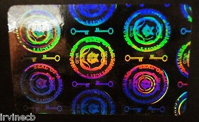 Hologram Overlays Horizontal Shield and Key Overlay ID Cards - Lot of 10