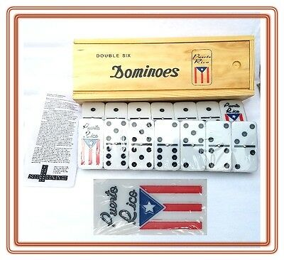 Professional Puerto Rico Flag Double Six Dominos Dominoes Boricua Rican