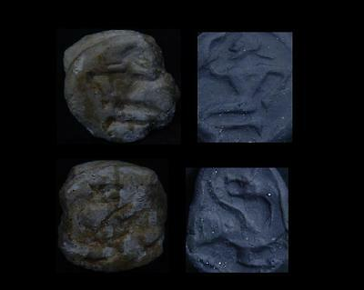 Ancient Steatite 2 Sided Seal/Stamp Bronze Age C.500 BC