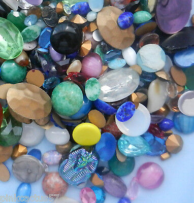 530 stunning assorted quality gemstones cabuchons glass stones weight 400g
