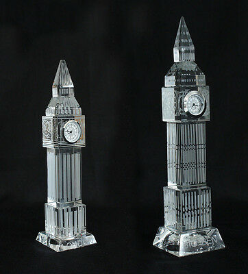 New Crystal Glass Big Ben Clock 3D Laser Multi Lights London Souvenir Ornament