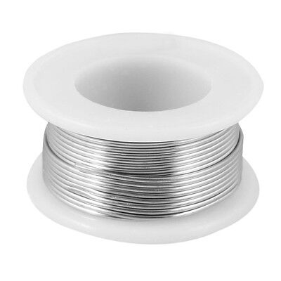 1.2% Flux 1mm Diameter Tin Lead Soldering Rosin Core Wire Silver Tone N3
