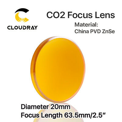 "CO2 Laser Lens 20mm FL:2.5""/63.5mm ZnSe Focal Lens for Engraving Cutting Machine"