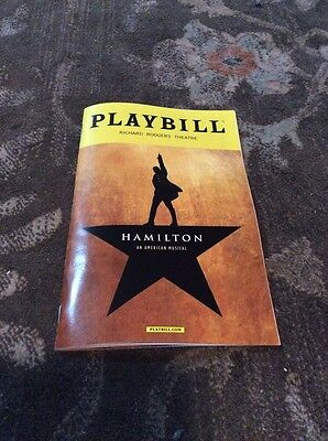 Hamilton Musical Playbill Nyc Cast Dated September 3, 2016 Goldsberry Last Show