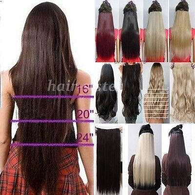 cheapest real full head clip in on hair extensions straight curly for human gn06