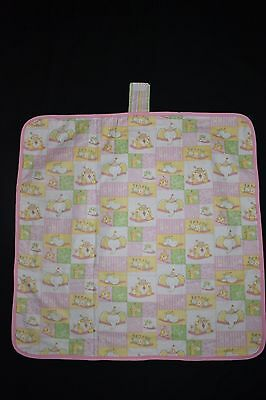 Pink Sleeping Animals Baby change mat - handmade