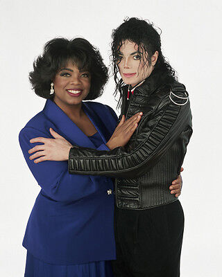 Michael Jackson and Oprah Winfrey UNSIGNED photo - E1029