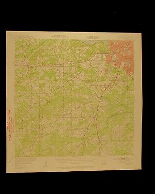 Greenwood Louisiana vintage 1956 original USGS Topographical chart