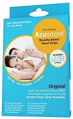 The Original Acusnore Anti Snoring Nasal Congestion Breathe Better Nasal Strips