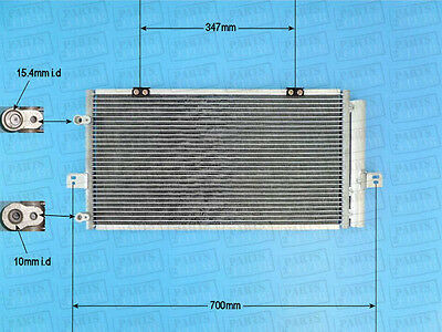 Brand New Air Con Condenser With O Ring Kit A/C Air Conditioning 16-1296