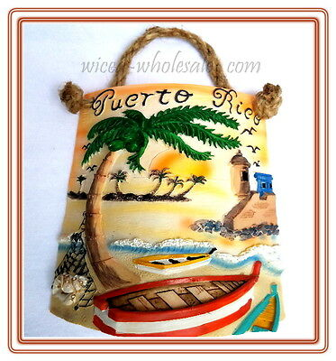 "8"" Inch Puerto Rico Home Decorative Souvenirs Tile Shingle Wall Rican Boricua PR"