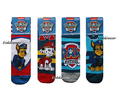 PAW Patrol Marshall Chase boys ankle socks UK shoe size 3-5  1-2 years.PUPS dog