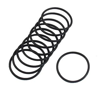 10 Pcs 35mm x 2mm Industrial Flexible Rubber O Ring Seal Washer N3