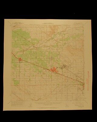 Atwater California vintage 1963 original USGS Topographical chart