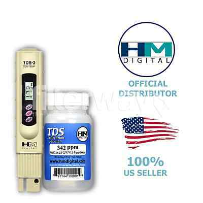 Tds-3 Handheld Meter With Case+Hm Digital C-342 Tds Calibration Solution (Free)
