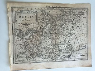 1634 Mercator Hondius: Russia Moscovia, Russland Russian Federation Moscow Map