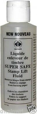 Super Safe Stamp Lift Fluid: Remove hinges & paper, separates stamps! Reg.$8.95