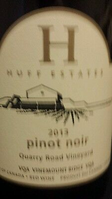 Huff estates 2013 Pinot Noir red wine, 2 Available