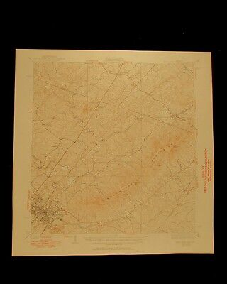 Charlottesville Virginia vintage 1950 original USGS Topographical chart