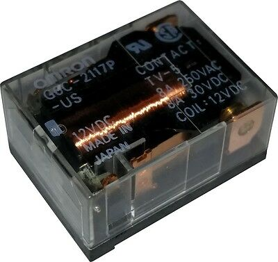 Omron G6C Non Latching Relay 12V 8A DPST-NO/NC G6C-2117P-US-DC12