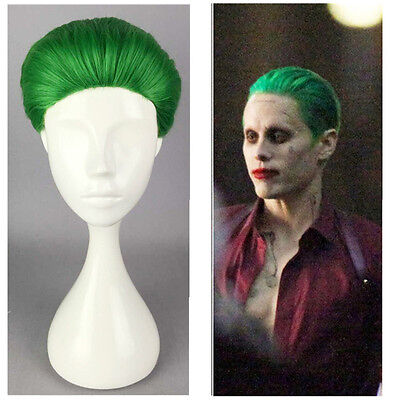 Suicide Squad Batman Joker Short  Cosplay Popular Synthetic Wig Green Men Anime