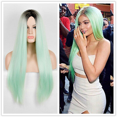 75cm Fashion Kylie Jenner long Straight  Wig Cosplay Party Costume Anime Hair