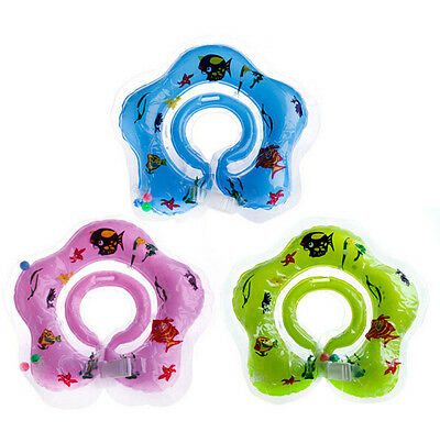 Inflatable Neck Float Ring Safety New Baby Newborn Swimming Circle Aid Toy Bath
