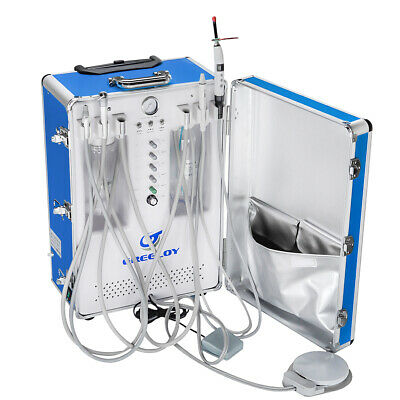 Greeloy 600W Dental Portable Unit with Air Compressor + Curing Light + Scaler 4H