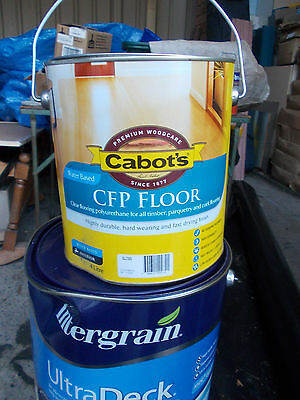 "Cabots ""CFP"" Timber Cork, Parquetry, finish in ""SATIN ""4 Litre can   WATER BASED"