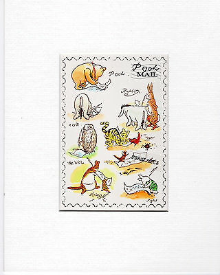 Winnie the Pooh : Pooh MAIL : Mounted Print FREE POSTAGE