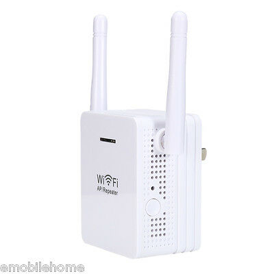 300Mbps Wireless Router Repeater Network Range Expander Signal Booster US Adapte